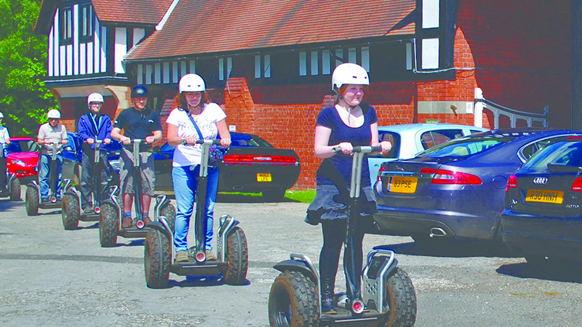 Segways at Blakemere