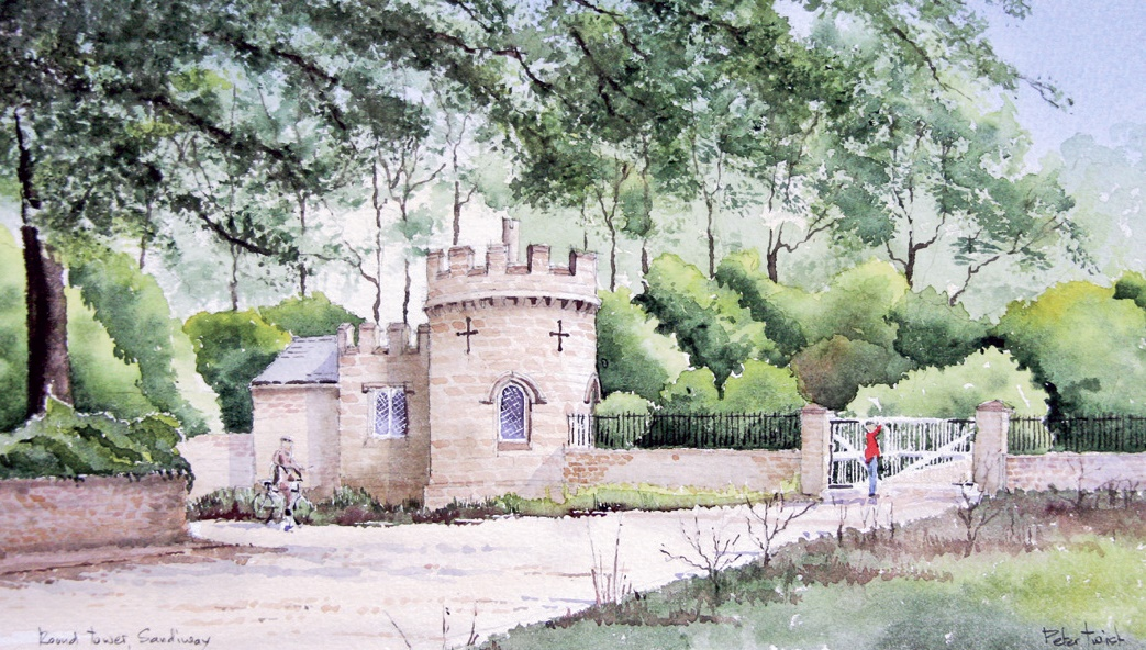 Round Tower Painting (by Peter Twist)