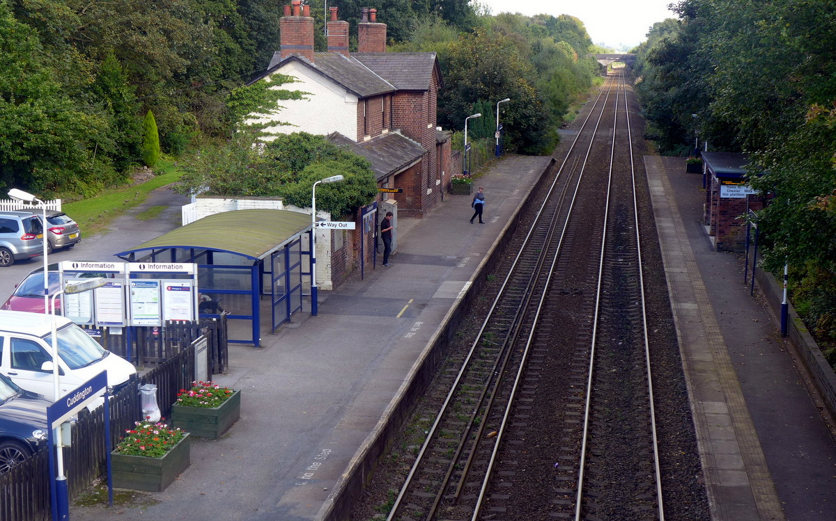 Cuddington Station from above